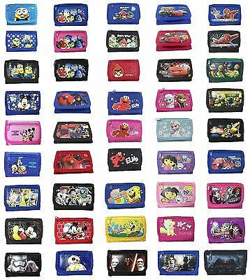 Disney Frozen Inside Out Minions Cars Licensed Tri-Fold Wallet Coin Purse (1pc)