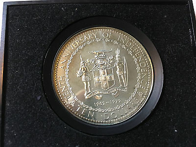 1972 Jamaica Silver Ten Dollar 10th Anniversary of Independence Cased