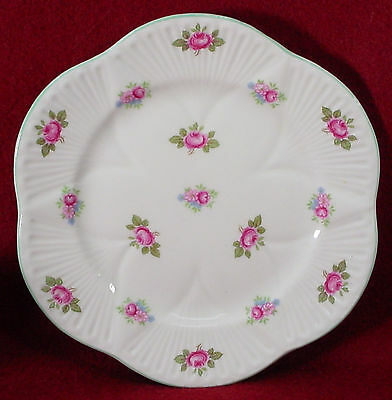 SHELLEY china ROSEBUD 13426 Dainty Shape BREAD PLATE 6""