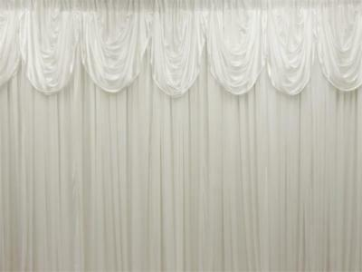 WHITE Decorative BACKDROP 20 10 ft Stage Party Wedding Tradeshow Booth SALE