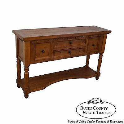 Custom French Country Style Solid Pine Sideboard Server