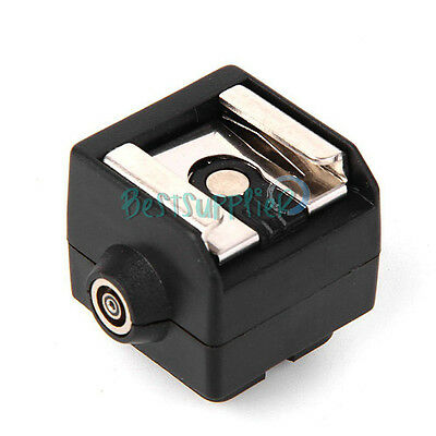 Hot Shoe Adapter to Standard Flash PC Connection For Canon Nikon Camera DSLR