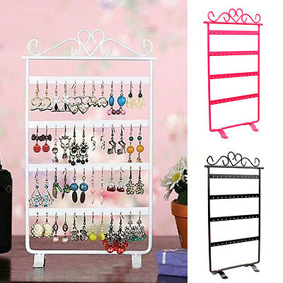 48 Holes Metal Earrings Stud Display Show Rack Jewelry Stand Holder Organizer