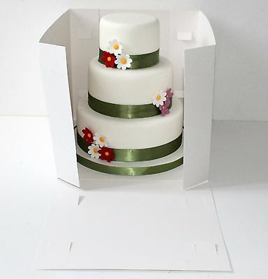 Tall Cake Boxes- Tiered stacked cakes Giant Cupcakes with Clear Window ALL SIZES