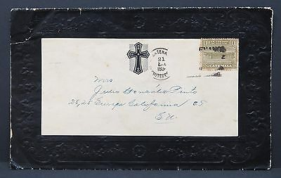 Guatemala Memorial Cover 1934 Trauer Brief (Lot -I-2892