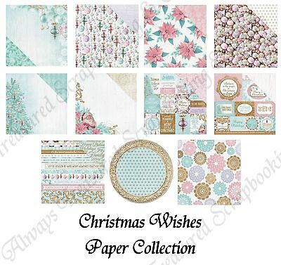 """Kaisercraft 12""""x12"""" Scrapbook Paper Christmas Wishes ~ 11 Designs to Choose From"""