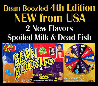 New 4th Edition US Jelly Belly BeanBoozled Spinner Wheel Game Box -Four edition