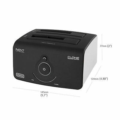 Next-752DCU3 USB3.0 2Bay HDD SSD Clone Docking Station Easy Hot Swapping eSATA