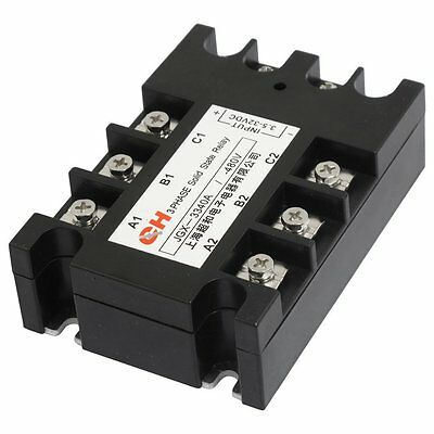 3 Phase Solid State Relay JGX-3340A 3.5-32 VDC Input 480VAC 40 Amp Output DC/AC