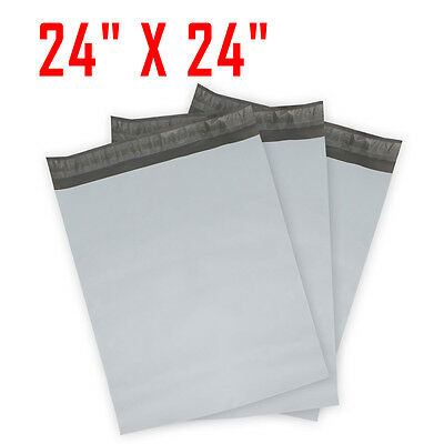 5 #8 Poly Mailer Plastic Shipping Mailing Bags Envelope Polybag 2.35mm 24x24