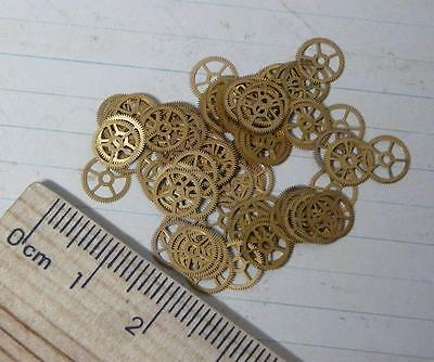 Steampunk Watch Parts Gold Flat Watch Cogs 7mm x 2GM Pack Approx 80PC