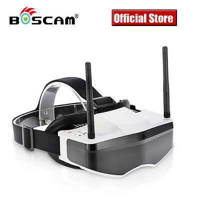 Boscam GS909 FPV Goggles 3D Video Glasses Aerial 5.8G w/ Dual Transmitting Lens