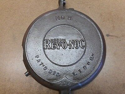 Vtg GRISWOLD WAFFLE IRON Rev-O-Noc No. 8 Part Only Damaged 1908 Wall Hanger!