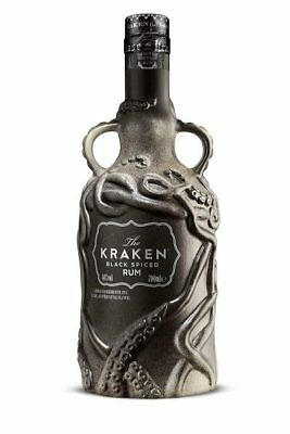 The Kraken Limited Edition Black Spiced Rum Ceramic Bottle 700mL
