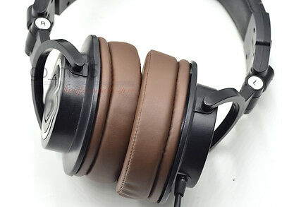 Brown replacement cushion ear pads for ATH-M50 M50S M50X M30 M40 M35 M20 SX1 40X