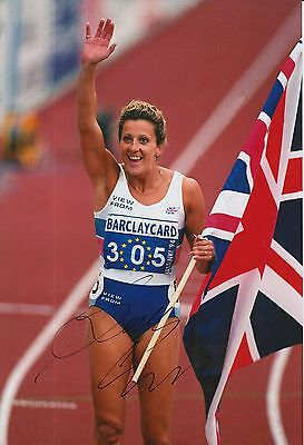 Sally Gunnell Hand Signed 12x8 Photo Olympics 1.