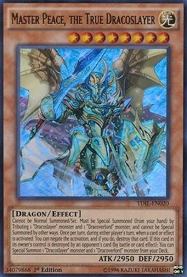 Master Peace, the True Dracoslayer (TDIL-EN020) - Ultra Rare - N. Mint - 1st Ed.