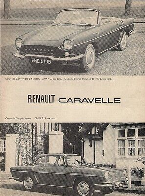 Renault Caravelle 1100 S Coupe 1964 UK Market Road Test Brochure Motor