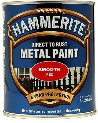 Hammerite Direct To Rust Smooth 750ml Tin Free & Fast 48HR Tracked Great Buy!!!