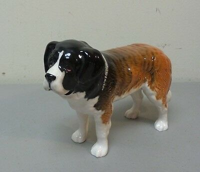 "Nice Beswick English Porcelain St. Bernard ""corna Garth Stroller"" Dog Figurine"
