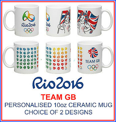 Rio 2016 Team Gb Personalised Ceramic Mug-Show Your Support With Lions Pride!