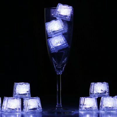 12 White LED LIGHTS Waterproof ICE CUBES Wedding Party Tabletop CENTERPIECES