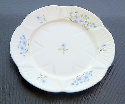 "8 1/8"" Salad Plate  (S)  BLUE ROCK (Dainty Shape) by SHELLEY BONE CHINA England"
