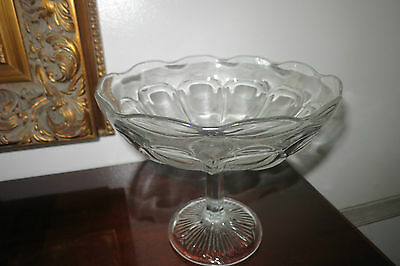 Vintage Eapg Higbee Tall Compote Footed Bowl Colonial Style