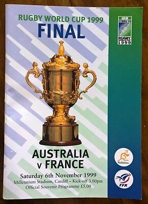 Rugby World Cup 1999 - Final Programme