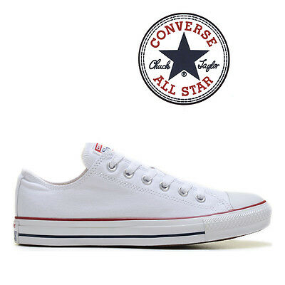 Mens Converse Chuck Taylor All Star Low Top Canvas Fashion Sneaker Optical White