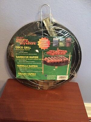 Old Marsh Allan Anytime Anywhere Instant Charcoal 3 Position Quick Grill