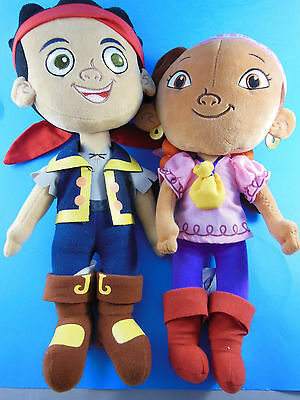 Disney Store Plush Jake And The Neverland Pirates  IZZY & JAKE dolls 13-14""