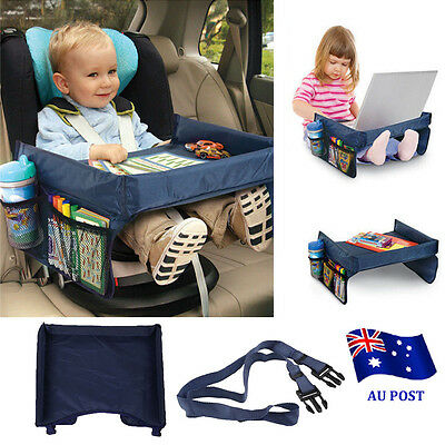 Baby Safety Travel Tray Drawing Board Table Kids Car Seat Snack Waterproof BO