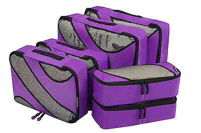 Father's Day 6 Sets Packing Cubes Travel Luggage Packing Bag Organizer Planners