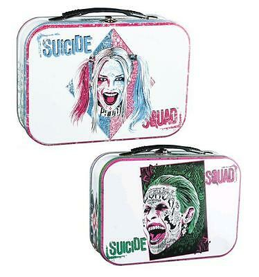 Suicide Squad Harley And Joker Lunchbox Tin Tote DC WB