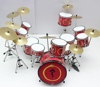 Neil Pearts Rush Snake And Arrow Red Drum Set Miniature For Display Only