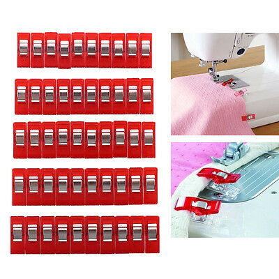 50pcs Red Wonder Clips for Quilting Craft Sewing Knitting Crochet Holder