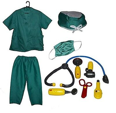 Dazzling Toys Kids Pretend Play Doctor/Nurse Costume Set with Accessories. Best