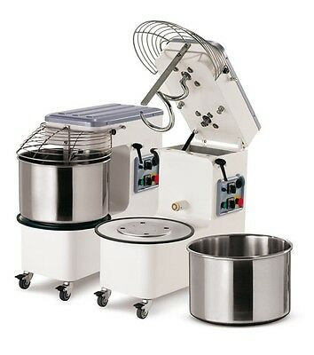 SPIRAL DOUGH MIXER 42 LT (44 qt)  - 38KGS ( 84 lbs) - WITH TIMER - made in Italy