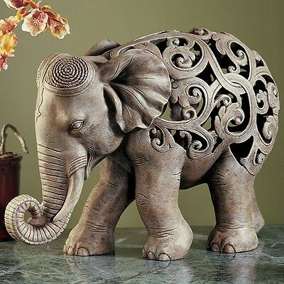 Art Home Decor Figurine Elephant Crafted Sculpture Resin Geometric Statue Gift
