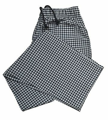 Striped Check Chef Trousers Two side one rear pockets cheaper catering Pants