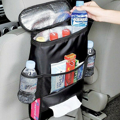 Car Auto Seat Back Organizer Pocket Insulated Cooler Pocket for Travel Camping