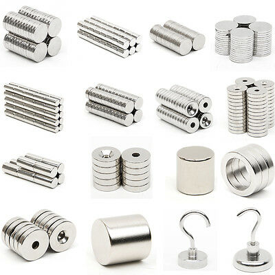 N52 Grade Neodymium Magnets Super Strong Countersunk Rare Earth NdFeB All Sizes