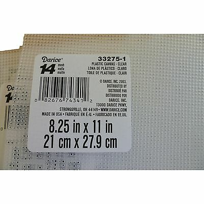 14 Count Plastic Embroidery Canvas Aida Size  8 x 11 Inch 21 x 27 cm  ( 6 Sheets