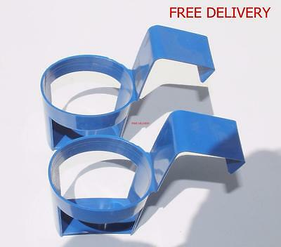 2 Drink Holders For Cans Cups Ideal for Cars Vans Lorrys Trucks Cup Holder Blue