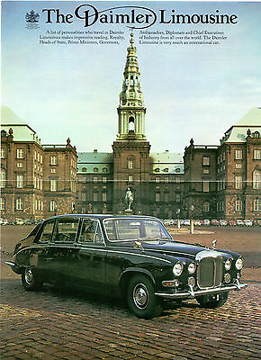 Daimler DS420 Limousine c 1972-73 UK Market Specification Brochure