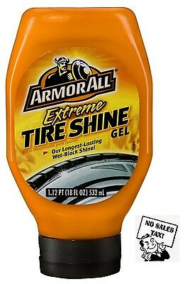 Tire Gel For Extreme Wet-Black Shine + Applicator, Armor All - 18 Oz.