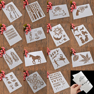 Reusable DIY Decor Furniture Wall Drawing Stencils Template Various Patterns
