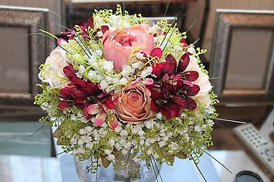 Bridal Bouquet Lily Of Valley Peonies Roses