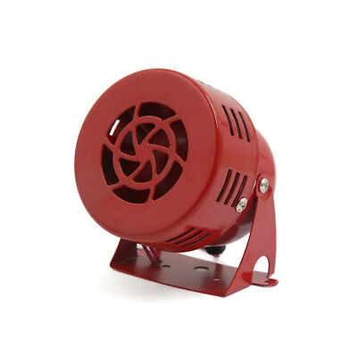 12V Electric Car Truck Motorcycle Driven Air Raid Siren Horn Loud Alarm Red
